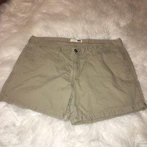 Khaki Levis Cotton Rolled Cuff Jean Shorts sz 34w